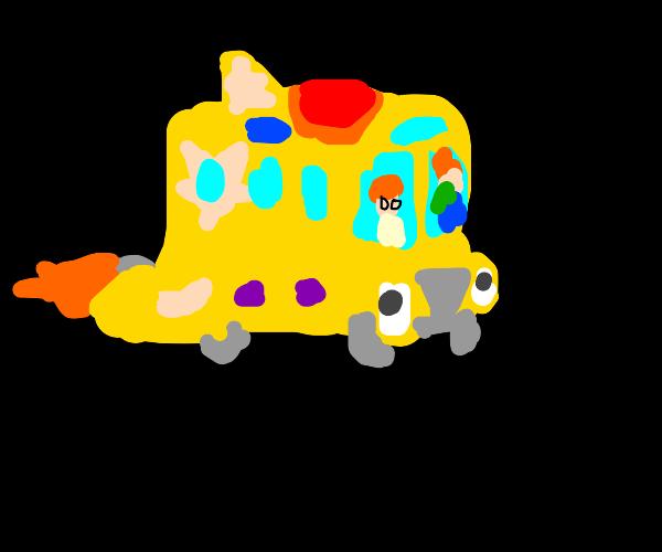 The magic school bus, hit it Liz!