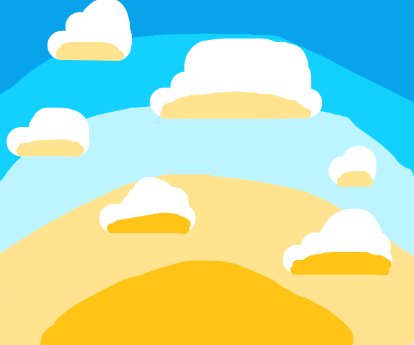 pretty sun and clouds