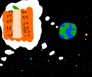 Universe wonders about pumpkin thermometer