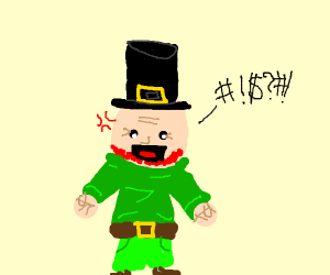 A swearing leprechaun