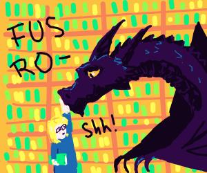 Librarian makes a dragon stop talking
