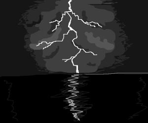 Lightning on the horizon
