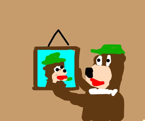 Yogi Bear hangs himself