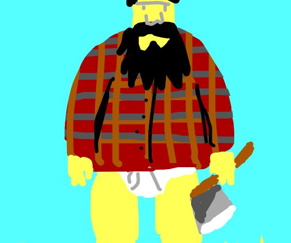 Lumberjack without pants