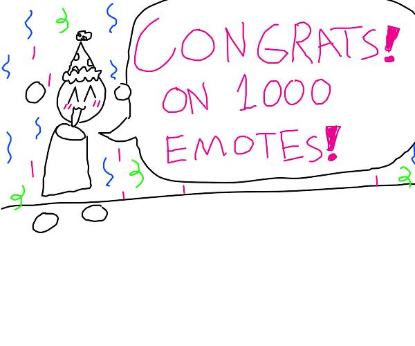 Yorobu thanks you all for 1,000 emotes!