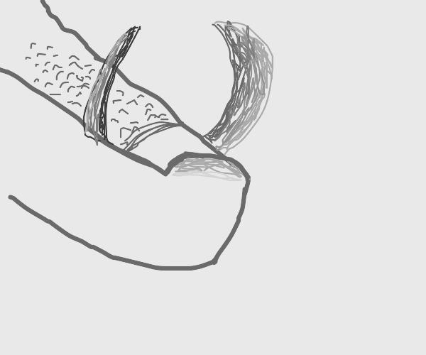 The toe stub of the Devil