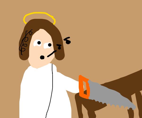 Jesus, the carpenter.