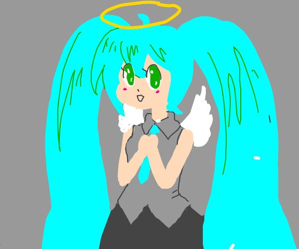 angel hatsune miku