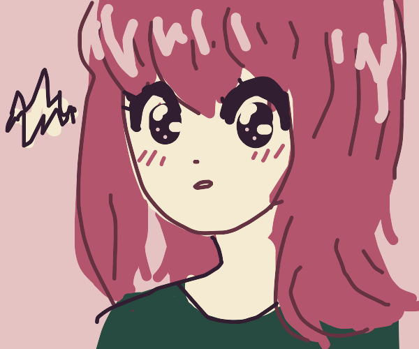 Anime Woman with Wide-Eyed Stare