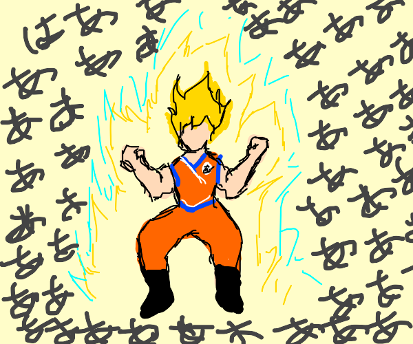 Goku goes Super Sayan