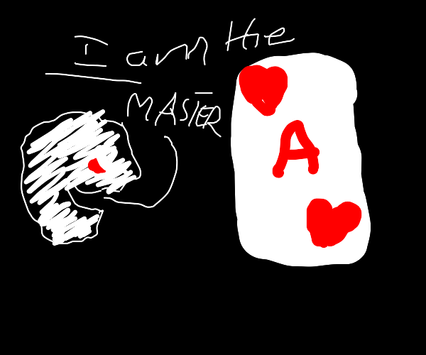 Master of playing cards