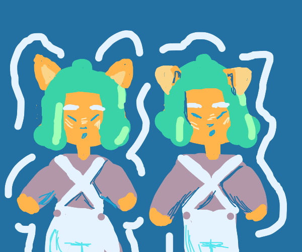 Oompa loompa cat and oompa loompa dog