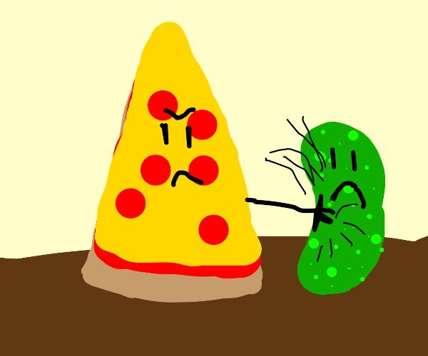 Pizza hits sad pickle