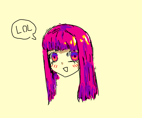 Lol-- Anime girl with pink hair