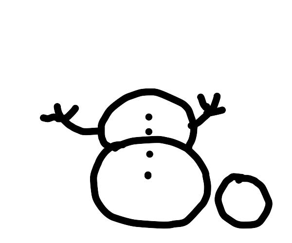a w.i.p. snowman