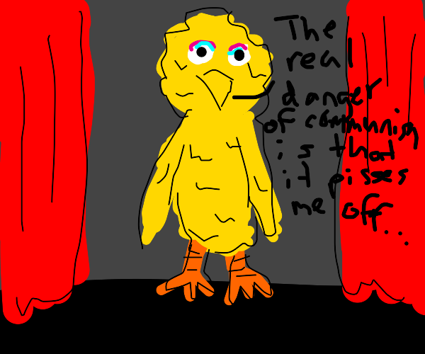 big bird talking about dangers of communism
