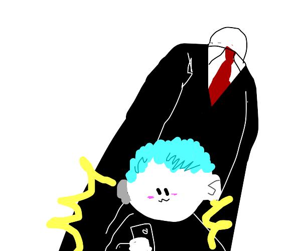 Selfie with Slenderman