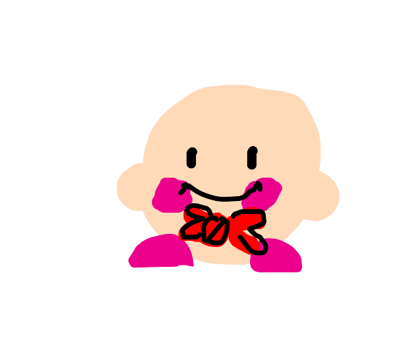 Kirby with a bowtie