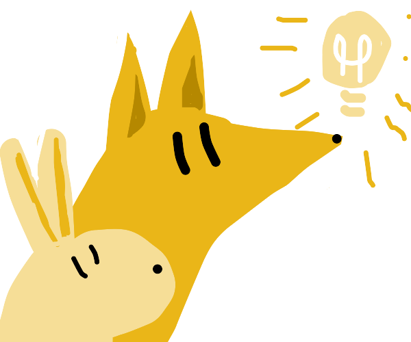 a fox and a rabbit have an idea