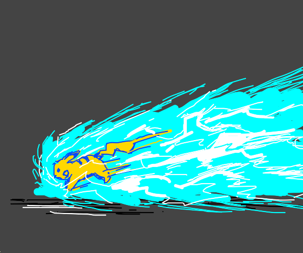 pikachu channels the power of sonic to go fas