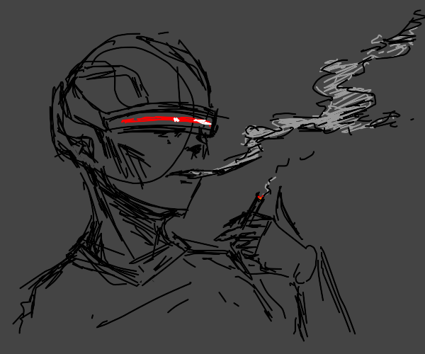 Smoking a cig