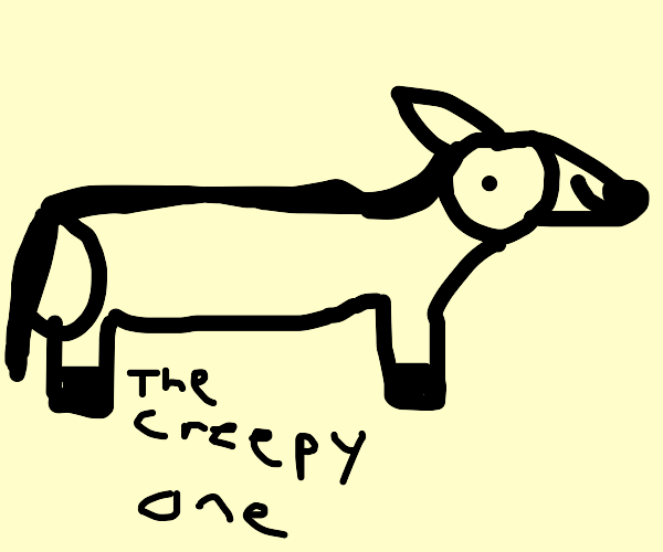 our good pal long horse (the creepy one)