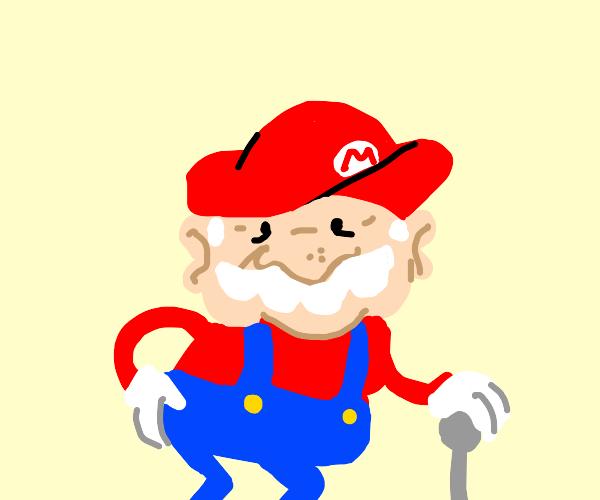 mario grew old