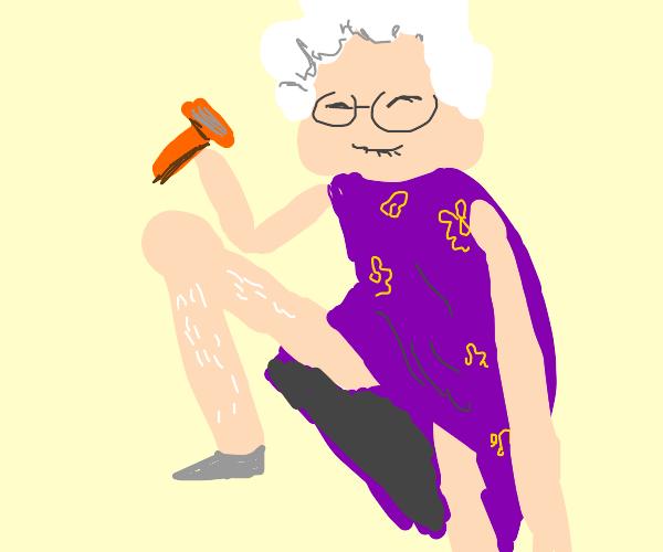 Grandmother Shaving