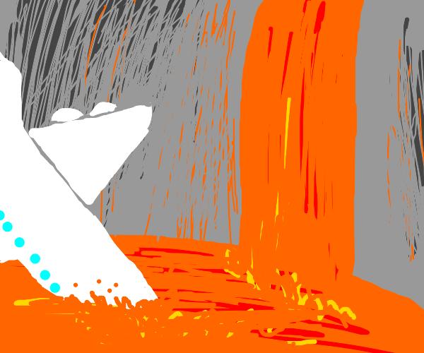 plane crash in lava