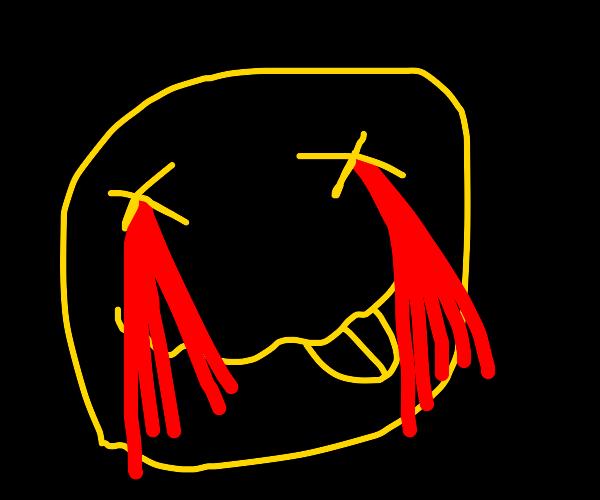 Nirvana logo with bleeding eyes