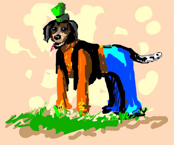 Goofy but as an actual dog