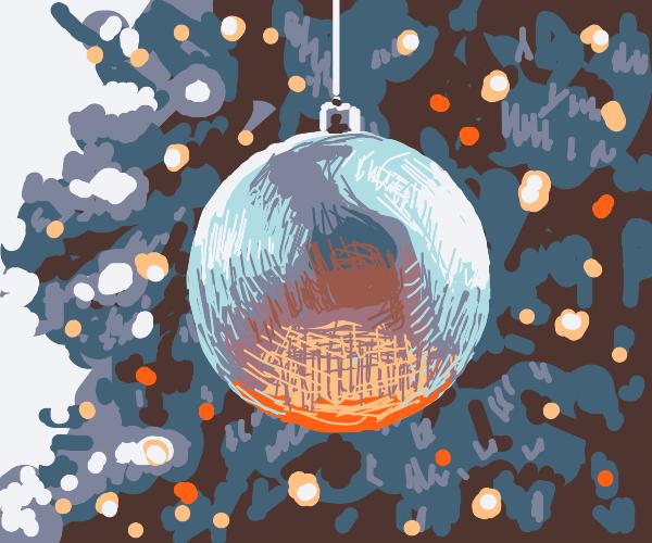 A shiny christmas ornament