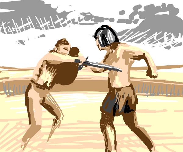 Gladiator battle