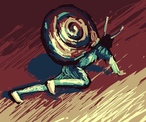 Human Gary the Snail