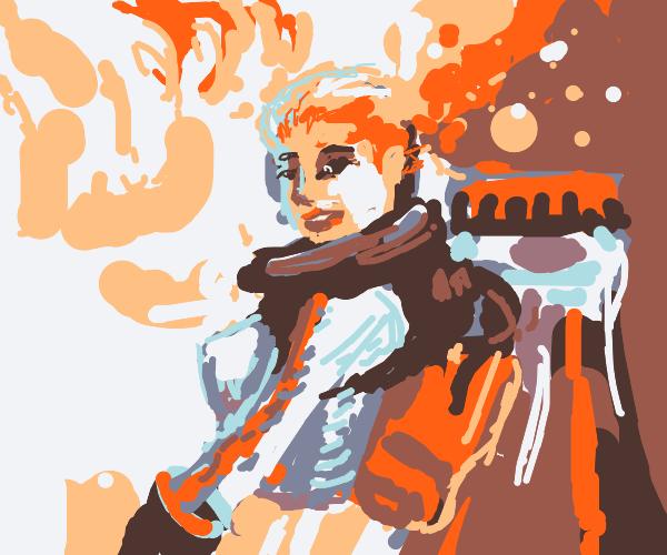 Nuka Cola space girl pinup poster