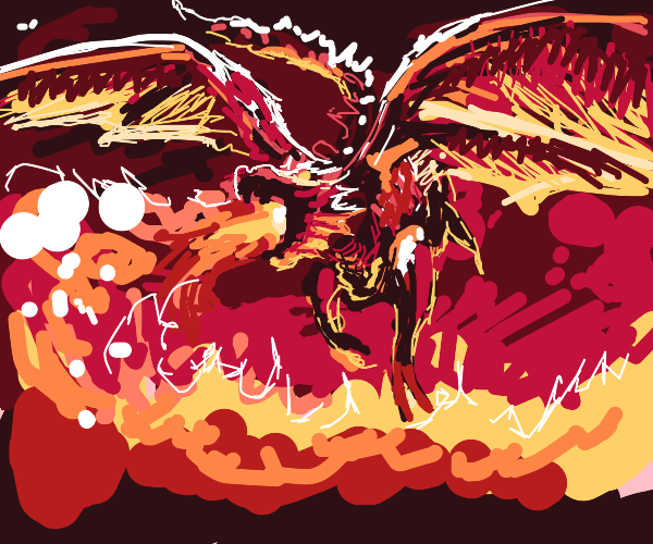 Fire Breathing Red Dragon