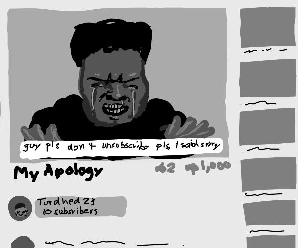 bad youtube apology video