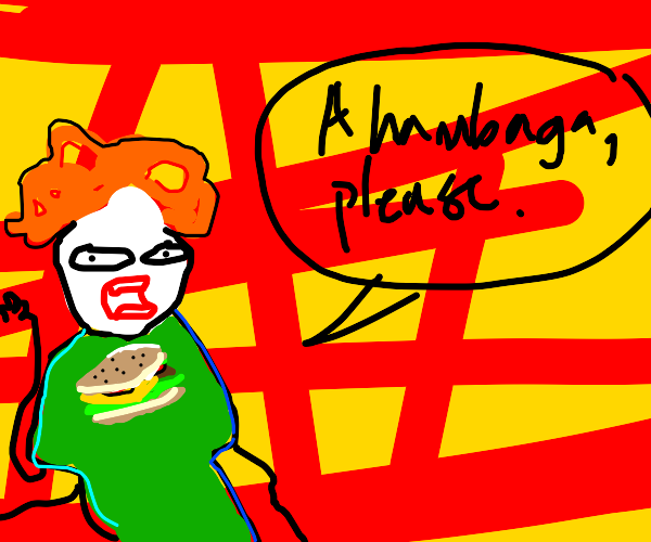 A hambaga please