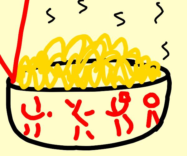 hot bowl of noodles
