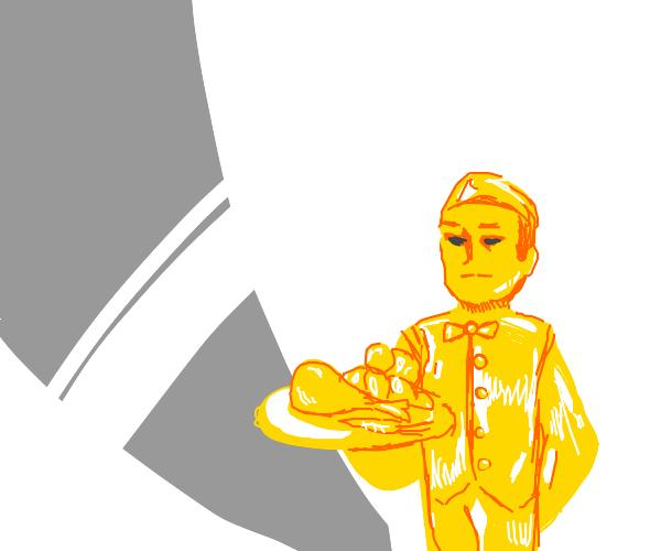 Golden waiter