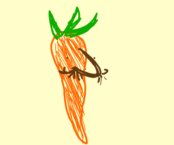 Carrot with a nose