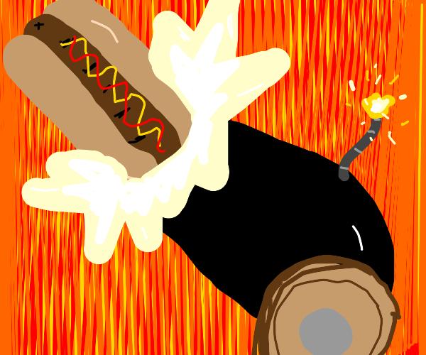 hot dog cannon