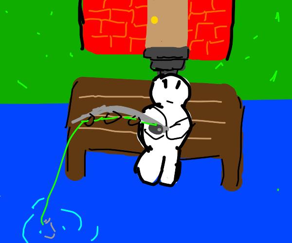 Man goes fishing