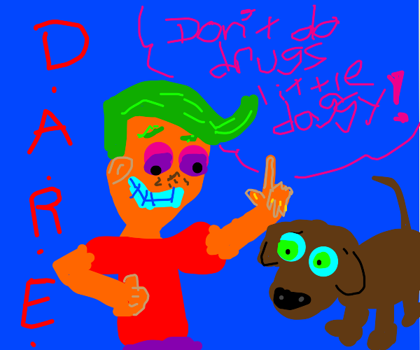 old man talks to dog about drugs