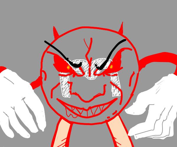 evil red m&m