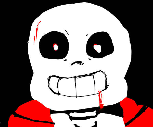 sans ghost is very offended