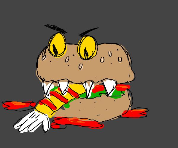 monster burger consumes macdonald