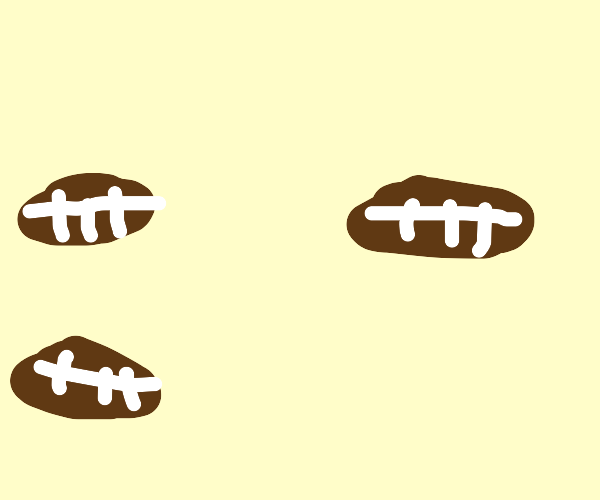 3 footballs