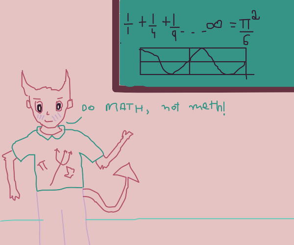 cute demon teaches math