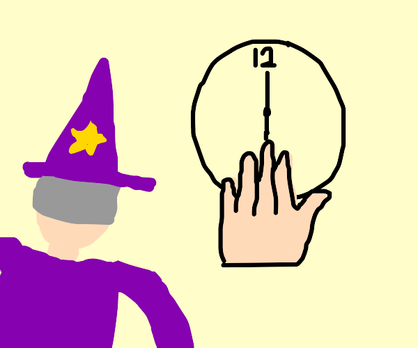 Wizard sees that it's MASSIVE HAND O'CLOCK